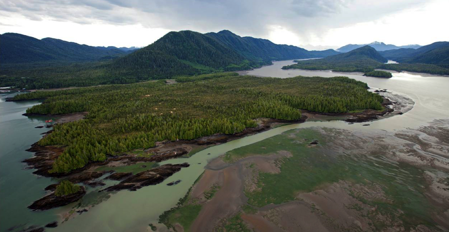 Lelu Island, proposed site of Pacific NorthWest LNG Project